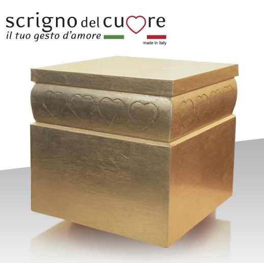urna scrigno foglia oro